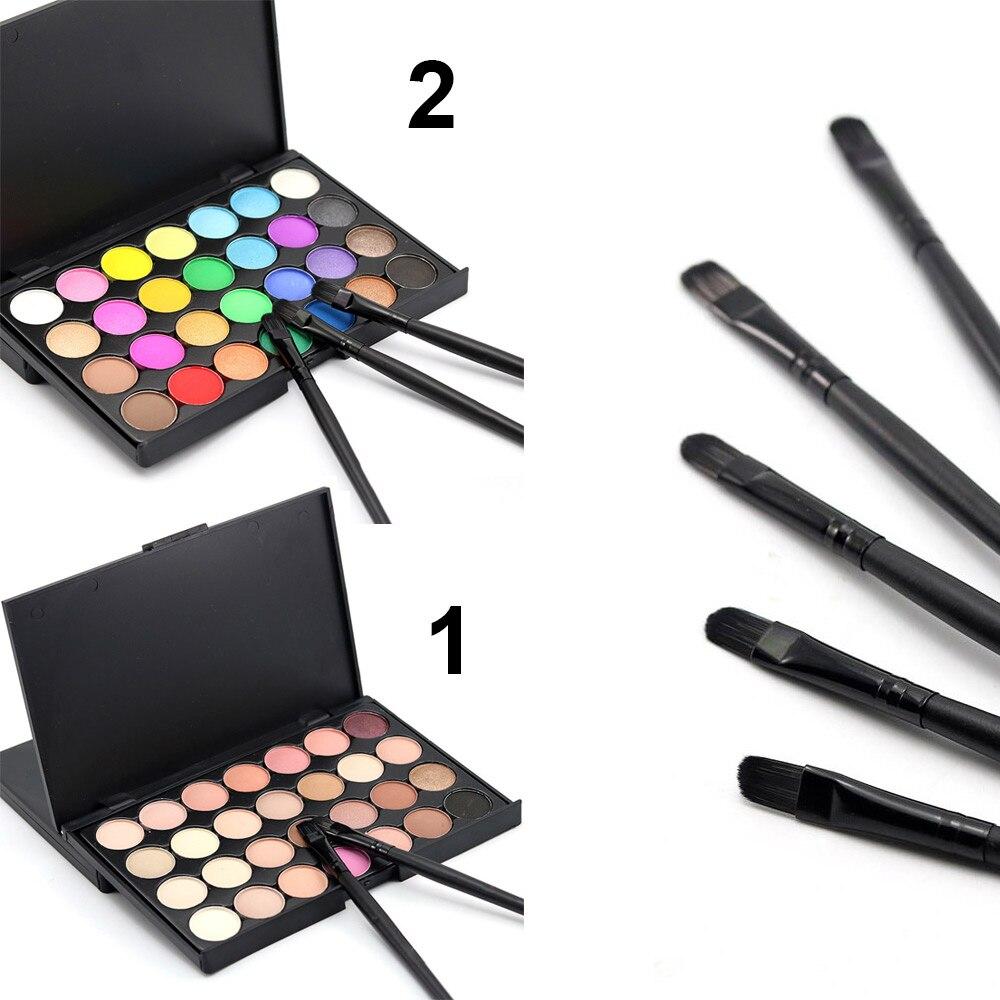 28 colores pigmento Natural mate sombra de ojos paleta con pincel cosméticos de larga duración maquillaje herramientas de belleza LDO99