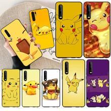 NBDRUICAI pokemons eevee pika Soft Silicone Black Phone Case for Huawei P30 P20 P10 P9 P8 Mate 20 10 Pro Lite