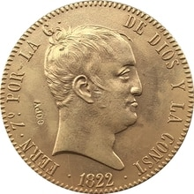 24-K vergoldet 1822 Spanien 320 Reales-Fernando VII münzen kopieren