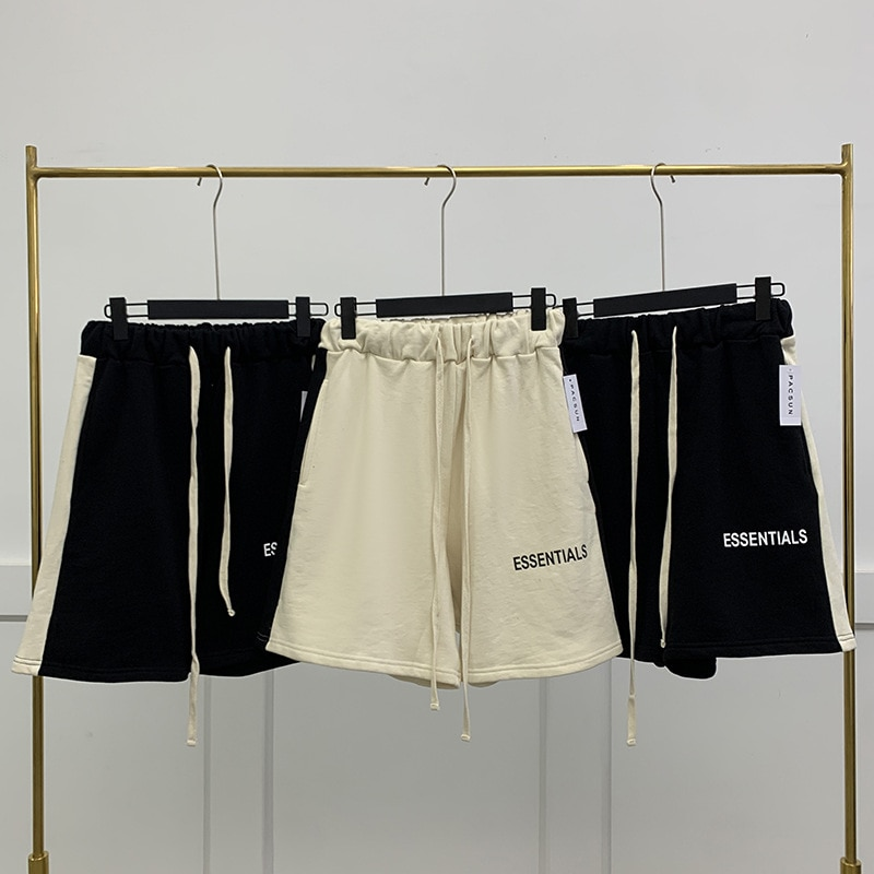Мужские спортивные шорты для бега, черные и бежевые хлопковые шорты для фитнеса, бега, тренировок, мужские шорты, мужские спортивные шорты, ...