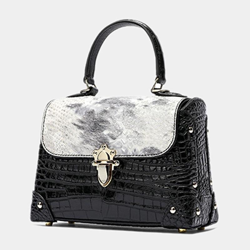المرأة حقيبة جلدية أصلية جلد التمساح المرأة حقيبة يد فاخرة مصمم حقيبة يد المرأة حقيبة يد جلدية العلامة التجارية كيس دي لوكس فام