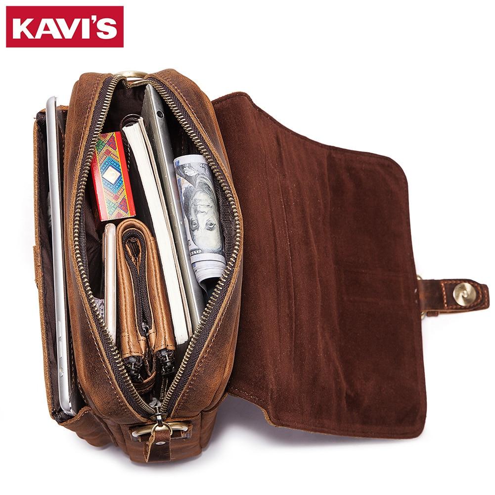 KAVIS-حقيبة كتف من الجلد الطبيعي للرجال ، حقيبة كتف عصرية للرجال ، حقيبة سفر صغيرة ، جودة قهوة جديدة ، 2021
