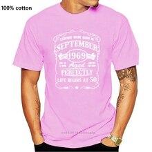 New Born In September 1969 50th Birthday Gift Legends T Shirt Fit Design Basic Vintage Pattern Round