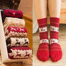 Winter Weihnachten Geschenke Weihnachten Elch Socken Cartoon Socken. Lustige socken winter damen warme socken Harajuku Kawaii