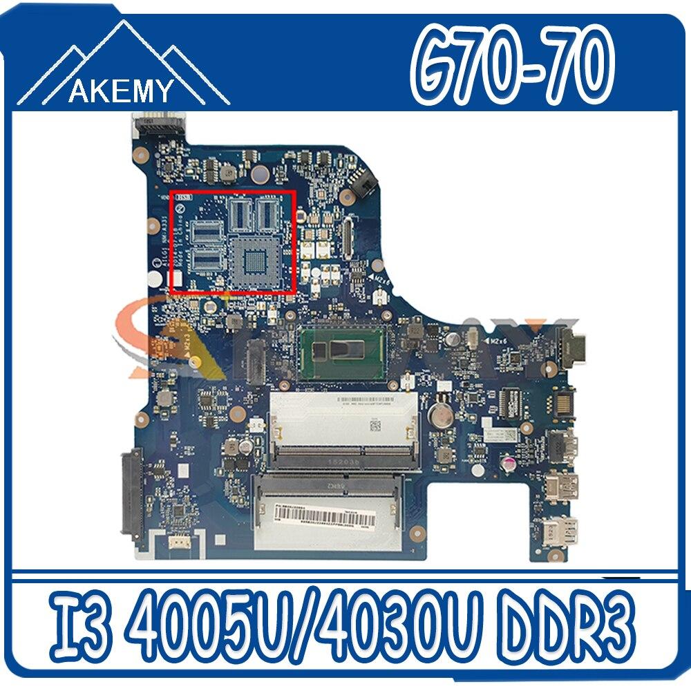 Akemy AILG1 NM-A331 هو مناسبة لينوفو G70-70 G70-80 Z70-80 اللوحة المحمول وحدة المعالجة المركزية I3 4005U/4030U DDR3 100% اختبار