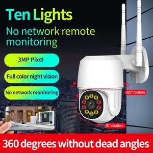 IP Camera Wireless Speed Dome CCTV Security Cameras Outdoor Waterproof Dust-proof Indoor And Outdoor 1080P 2million Pixels