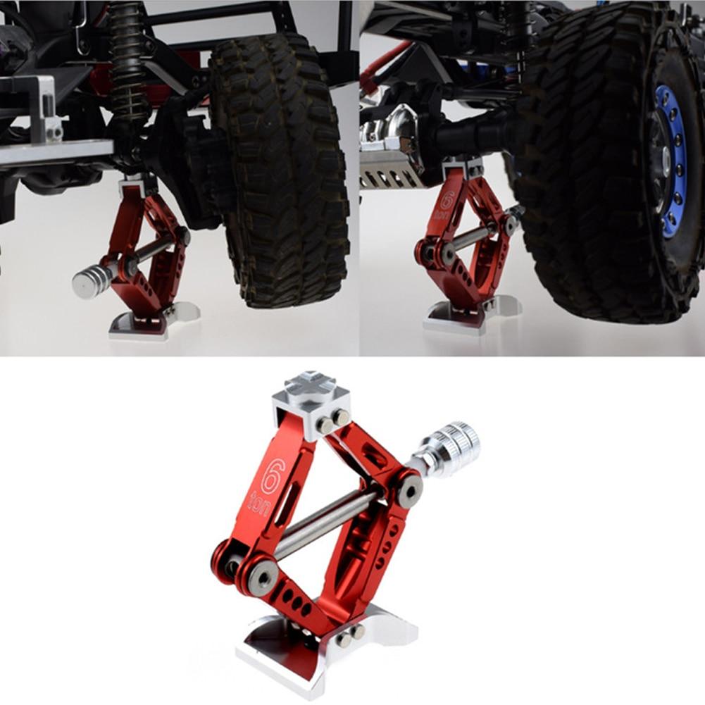 110 escala RC Car Jack aleación de aluminio brillante equipo de elevación Durable ajustable ángulo accesorios fácil de operar juguetes portátiles