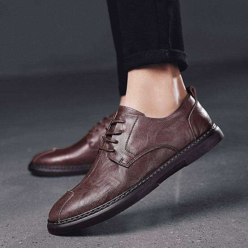 Мужская повседневная обувь, мужская повседневная обувь, Мужская модная кожаная обувь, мужская обувь 2020