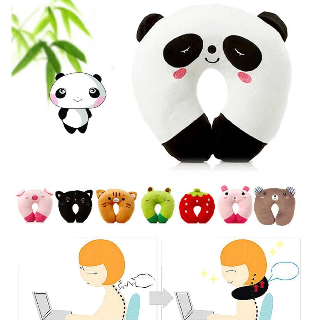 9 Colors Soft U-Shaped Plush Sleep Neck Protection Pillow Office Cushion Cute Lovely Travel Pillows For Children/Adult Drop Ship