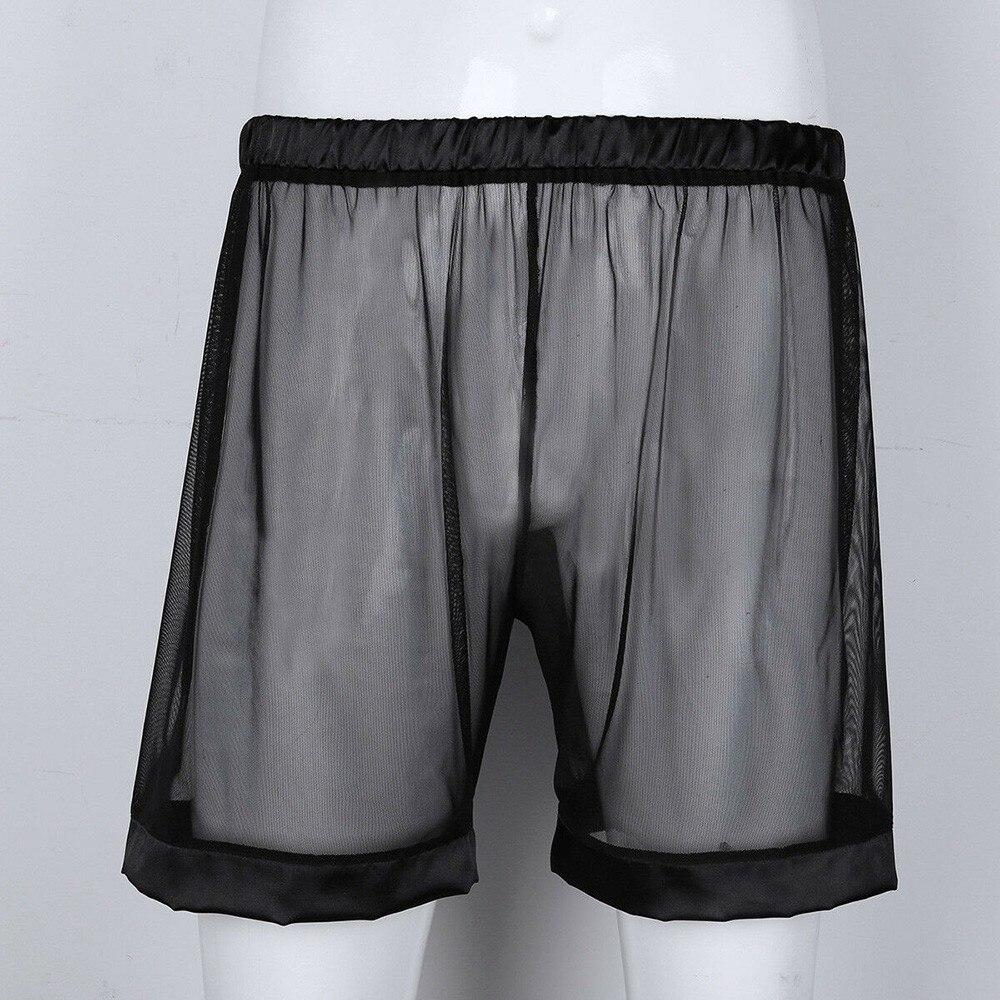 Модные мужские пикантные трусы-боксеры летние открытые трусы перспектива Breathtable сетчатые шорты прозрачные мужские трусы