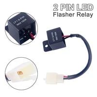 modify 12v 2pin electronic led lamp flasher relay for kawasaki for suzuki motorcycle motor turn signal bulb hyper flash