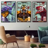 japanese anime evangelion posters and prints canvas painting comic wall art pictures for living room home decoration no frame