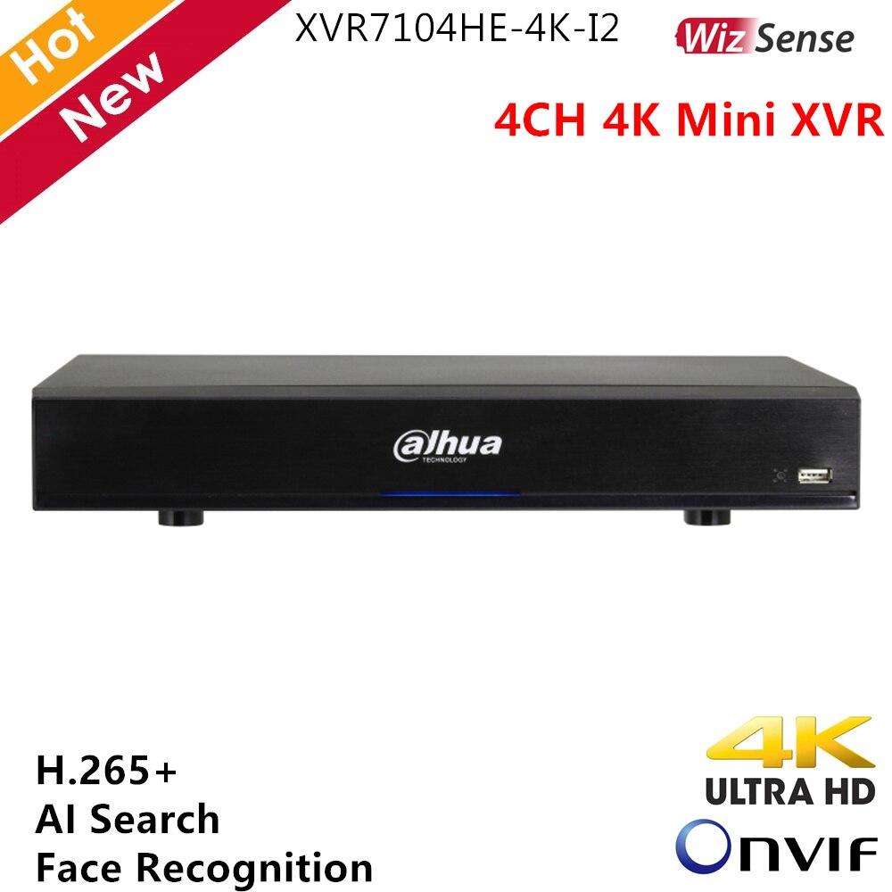 Dahua WizSense série 4K Mini XVR 4 canaux H.265 + prend en charge la reconnaissance faciale en temps réel HDCVI AHD TVI CVBS recherche automatique AI