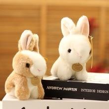 12 CM Lifelike Cute Lovely Rabbit Bunny Plush Toys Simulated Stuffed Animal Pendant Doll Children Ki