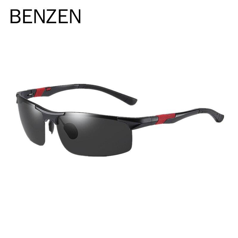 Gafas de sol polarizadas BENZEN Al Mg para hombre, gafas de sol para hombre, gafas conductor para conducir, gafas deportivas 9521