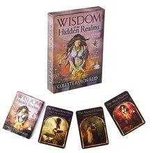 Sagesse des royaumes cachés Oracle cartes A 44 cartes Deck et guide Divination destin pour fête de famille cadeau de vacances jeu de société
