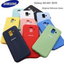 Samsung A6 Plus 2018 Case Original Official Silicone Finish Back Protective Samsung Galaxy A6 2018 a6+ 2018 Case