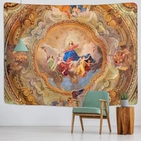 christ jesus tapestry wall hanging artistic polyester fabric cottage yoga mat rug camping tent covering fabric200x150cm large