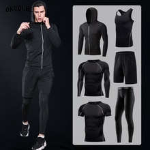 Vêtements de Sport homme Compression Sport costumes à capuche survêtements réfléchissants Sport Joggers formation Fitness vêtements de Sport ensemble de course hommes
