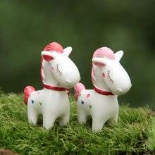 Al azar 1 Uds 3,7 cm Mini juguete de Pony tímido figura de acción PVC Anime bonsái microscópico colección decoración Micro paisaje modelo regalo
