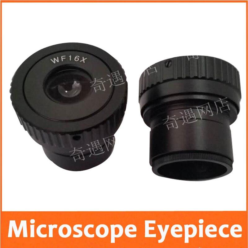 WF16X 15mm Zoom ajustable gran angular estéreo microscopio PH100 XT-II microscopio biológico lente ocular con tamaño de montaje 30mm