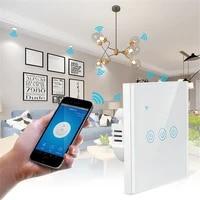 Interrupteur tactile intelligent TUYA WiFi  1 2 3 4 boutons  170-240V  Standard ue  pour Assistant Alexa et Google Home