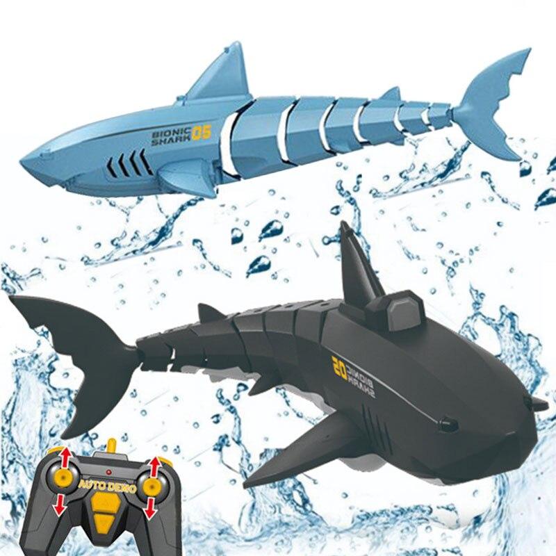 Tiburón de juguete de simulación para niños, 2,4G, a prueba de agua,...