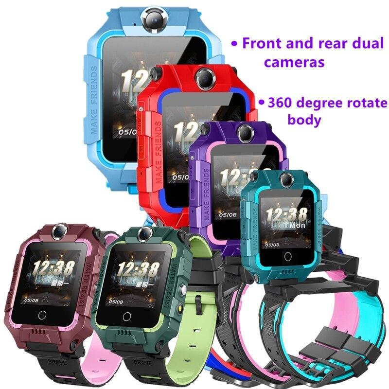 Reloj inteligente S19S para niños con doble cámara SOS Antil-lost 2G tarjeta SIM llamada de bebé LBS localizador de ubicación reloj de teléfono impermeable
