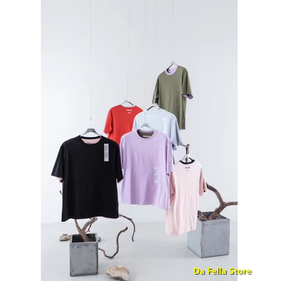2020 Wear both sides Ambush T-shirt New Men Women High Quality Double-sided Wear Ambush Tee 3 STYLE Color mashup Japan T-shirts
