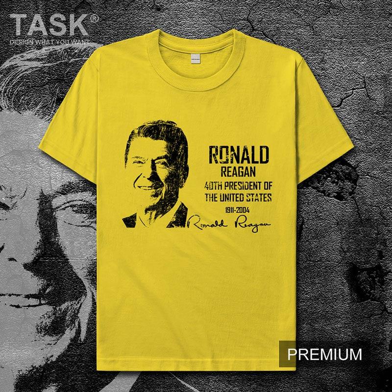 Celebrity, Ralph Wilson, el Presidente de América, el orador, gran comunicador, Estados Unidos, ropa para hombre, camiseta de manga corta 01