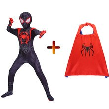 2019 Miles Morales Spiderman 3D impression Costume adulte enfants garçons araignée homme Cosplay Costume super-héros Zentai Spiderman Costume