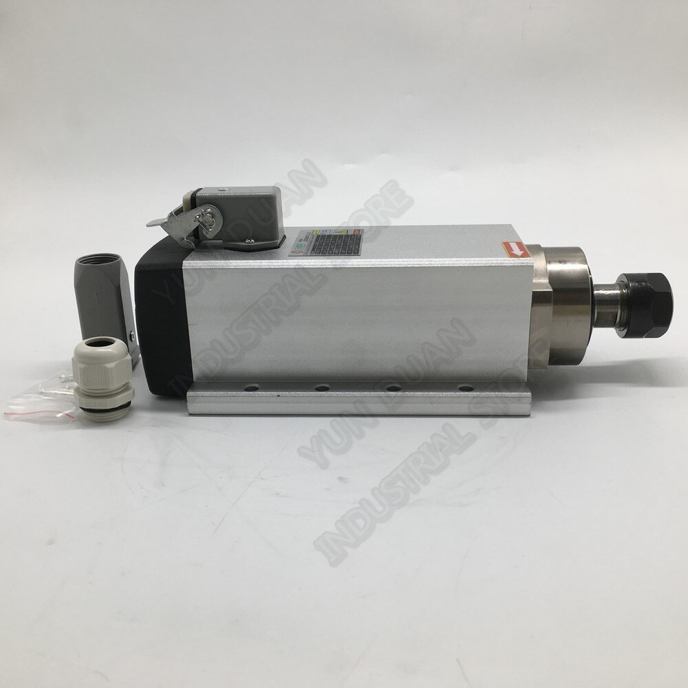 380 kW CNC enrutador Motor de husillo 13hp 300 V 3PH ER32 Hz AC ventilador cuadrado refrigerado por aire rodamientos de bolas de cerámica para el grabado