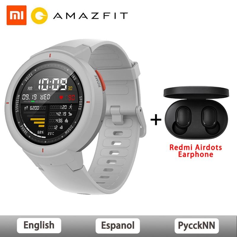 Original Global Version Amazfit Verge Smartwatch 1.3-inch AMOLED Screen Dial & Answer Calls Upgraded HR Sensor GPS Smart Watch