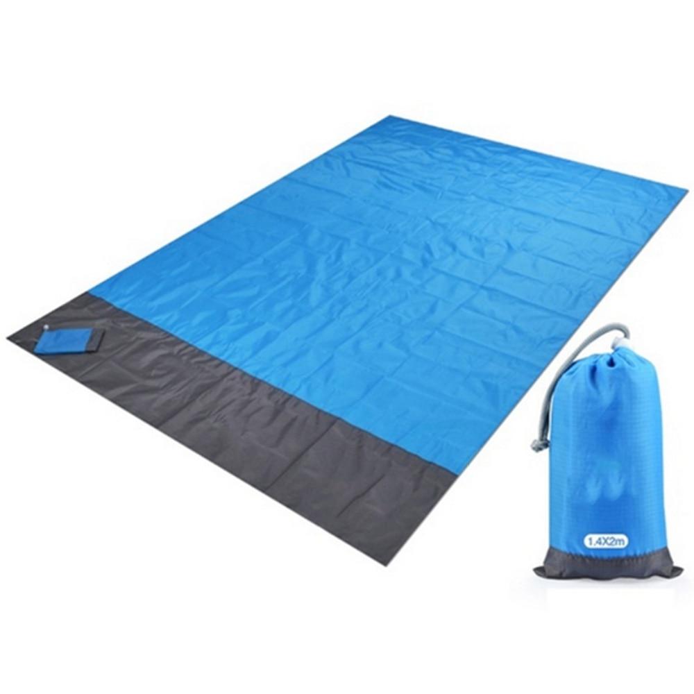 2x2.1m Waterproof Pocket Beach Blanket Folding Camping Mat Mattress Portable Lightweight Outdoor Picnic Sand