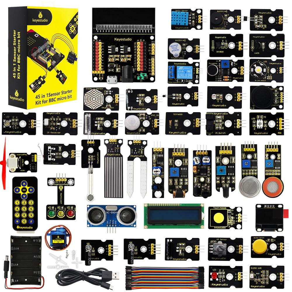 Keyestudio 45 in 1 Sensor Starter Kit Electronic Diy Kit For BBC Micro:bit+45 Projects W/Gift Box
