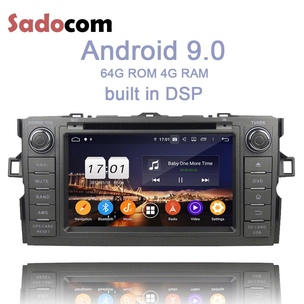 PX6 2 din Android 9,0 Auto DVD Player 4GB RAM 8 core auto radio 5,0 Für Toyota Auris 2010-2014 multimedia autoradio Stereo System