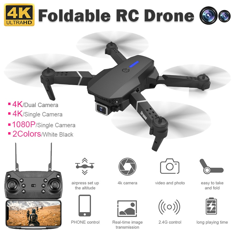 2020 New 4k Camera Drone HD Wifi Transmission Fpv Drone air Pressure Fixed Height four-axis Aircraft Rc Helicopter With Camera