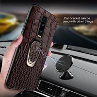 Natural Leather Phone Case For Xiaomi Mi 9t 10 pro 9 Lite 8 A2 A3 F1 Poco X3 Cover For Redmi Note 8 Pro 7 8T 4x 5 Plus Magnetic