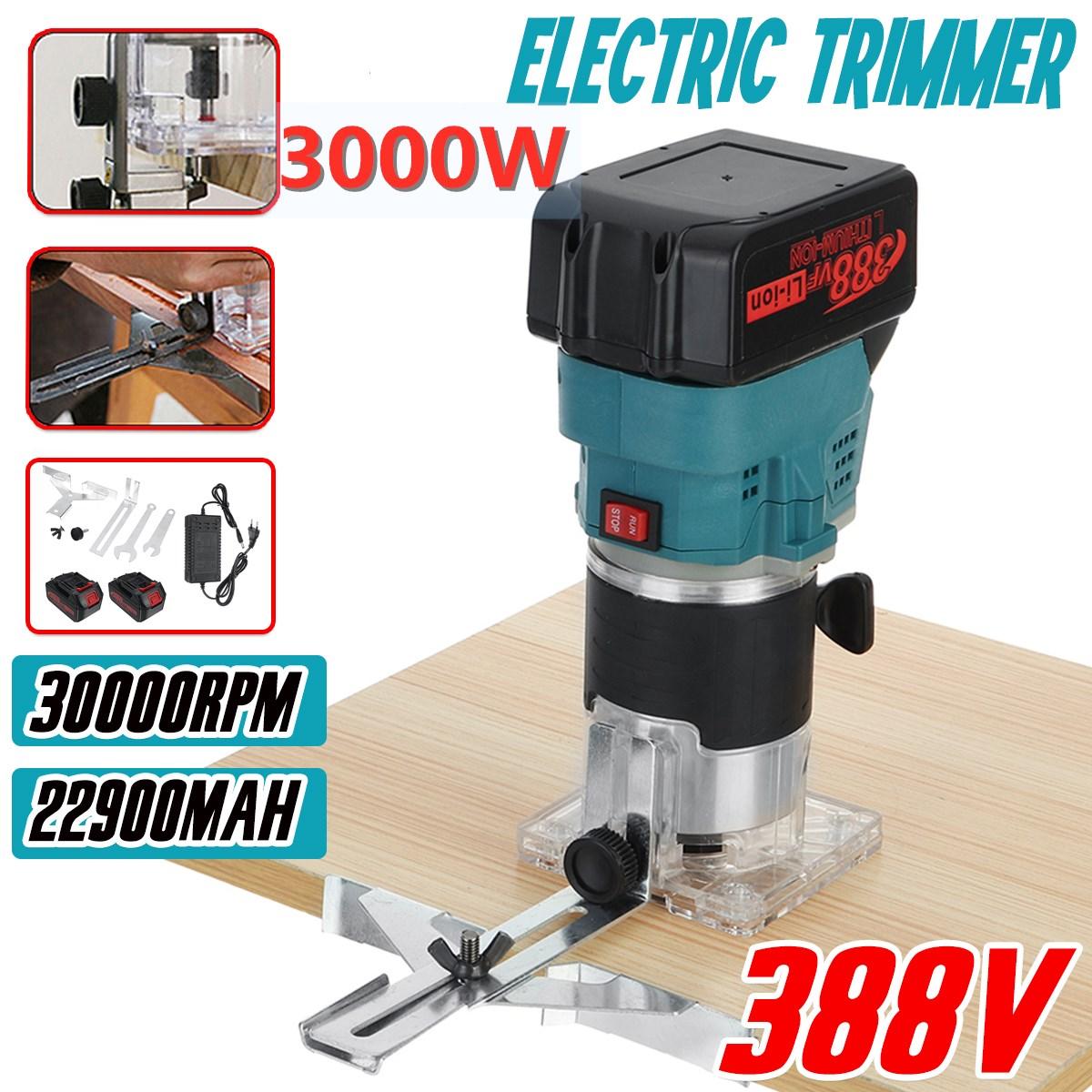 3000 واط 388 فولت فرش اللاسلكي الكهربائية المتقلب جهاز توجيه الخشب النقش الشق التشذيب آلة نحت للبطارية ماكيتا 18 فولت