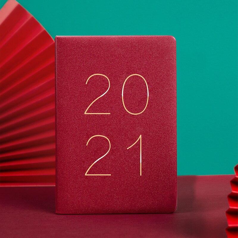 Agenda 2021 planejador organizador a5 diário caderno diário mensal semanal diário nota livro pessoal plano de viagem de negócios bloco de notas agenda