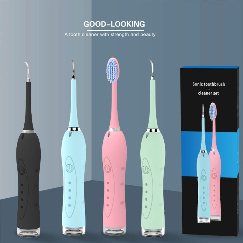 2 In 1 Sonic Dental Scaler  Oral Irrigators Electric Tooth Calculus Remover Tooth Stains Tartar Tool Cleaner with Toothbrush enlarge