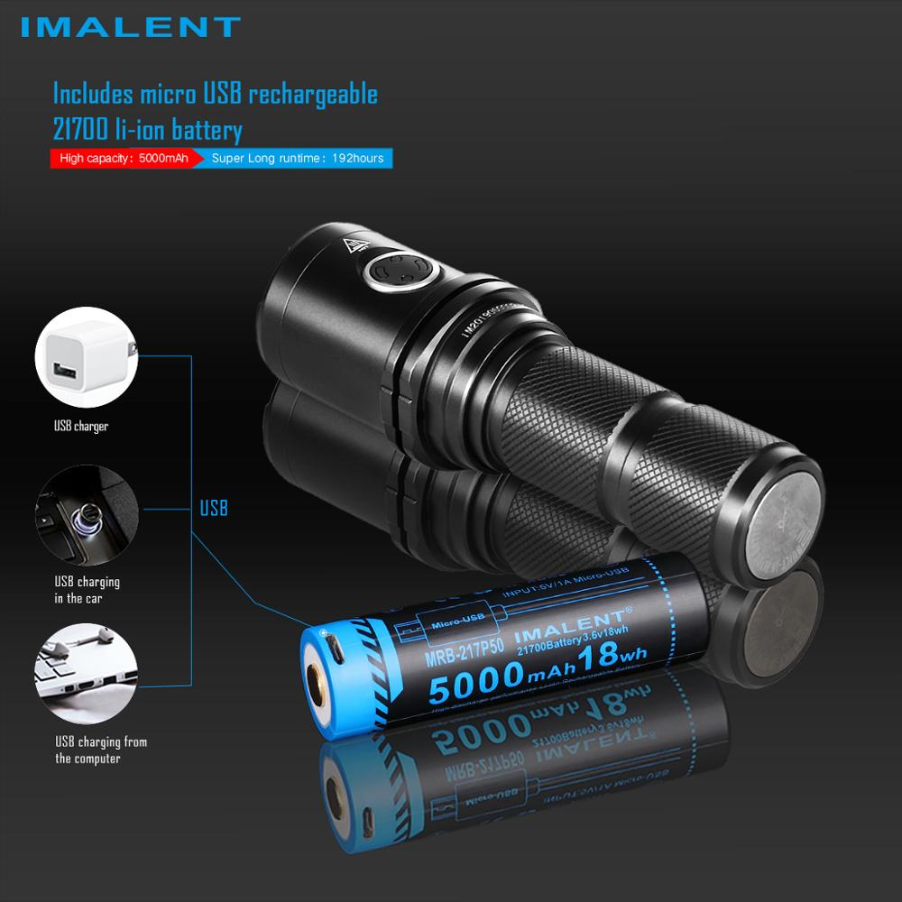IMALENT DM35 Led Fashlight 2000 Lumens Rechargeable Cree XHP35 HI Portable Handlight Outdoor Lighting with 21700 Battery Lantern enlarge