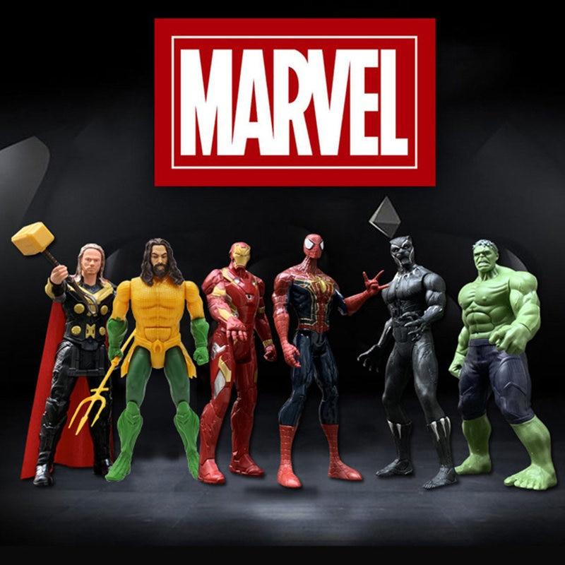 12''/30cm Marvel Avengers Batman Flash Superman Aquaman Spiderman Thanos Hulk Iron Man Thor Wolverine Action Figure Toy Kid Gift