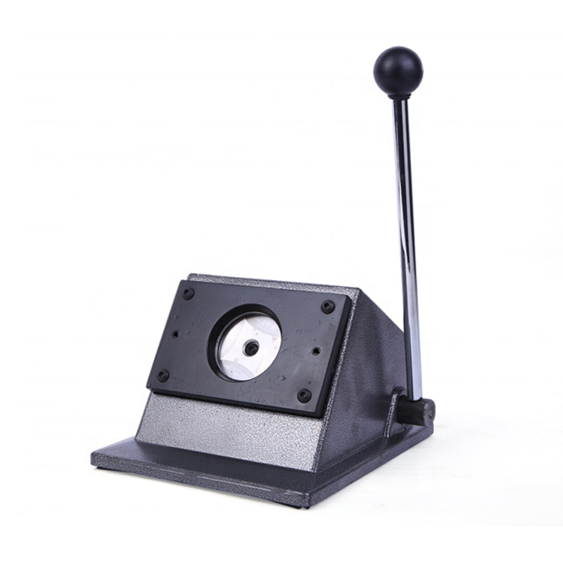 Cortador de Papel Botão Redondo Manual Emblema Fabricantes Cortador Que Faz 32 – 37 44 50 56 58mm Pinos Botões