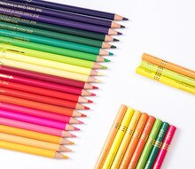 180 couleur soluble dans leau couleur plomb/180 couleur crayon de couleur grasse avec ensemble de sac de plomb de couleur/fournitures dart/crayons de couleur