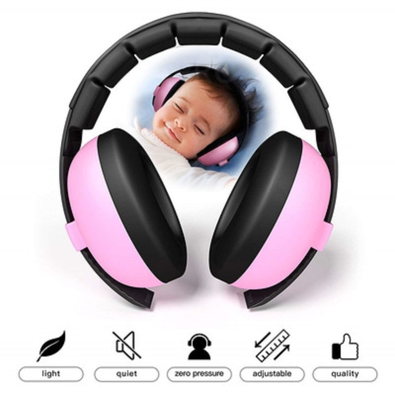 Orejeras protectoras para niños NPR 25dB reducción de ruido protección de oídos para niños