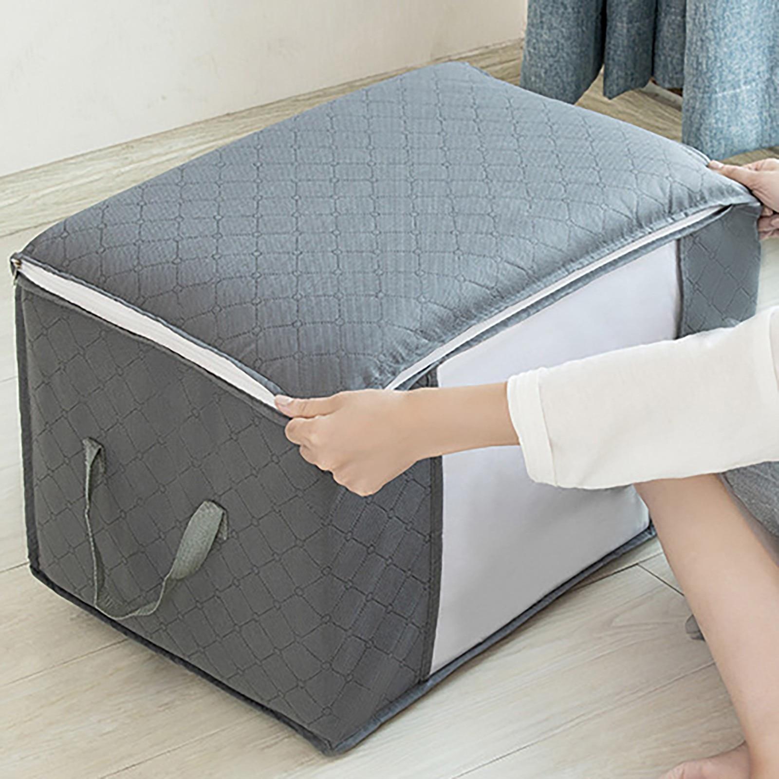 60x40x3 5 سنتيمتر حقيبة التخزين للملابس بطانية للطي النسيج وسادة لحاف بطانية المنظم سعة كبيرة خزانة حقيبة للتخزين #8