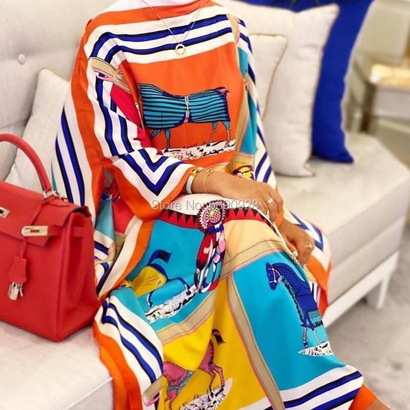 2020 autumn Qatar clothing female sexy floral dress summer Maxi beach Bohemian elegant women