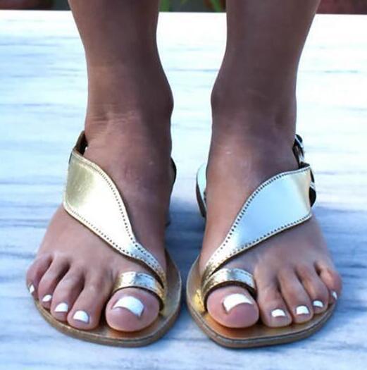 Qsr 2019 verão sandálias femininas, dedo do pé fundo plano, europa e sandálias femininas de tamanho grande 40-43