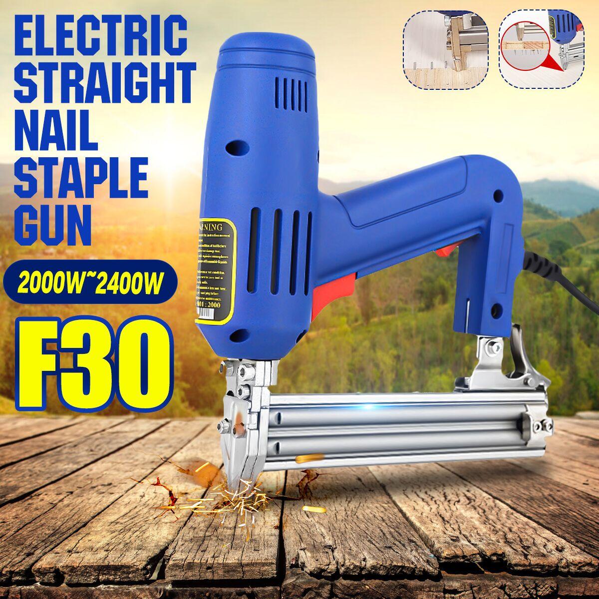 Drillpro Clavo recto eléctrico Gu 2000W 220V herramienta de carpintería de alta potencia herramientas eléctricas de carpintería